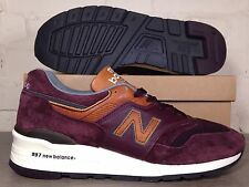 Da Uomo New Balance 997 DSLR UK taglia 10 SCI pack Borgogna in pelle scamosciata made in USA