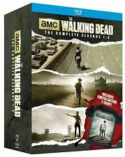 Walking Dead: Season 1-3 Blu-ray Disc, 2014, 11-Disc Set Limited T-Shirt XL NEW