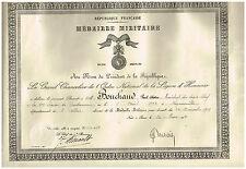ANCIEN DIPLOME GENDARME 13ème LEGION MEDAILLE MILITAIRE 1930