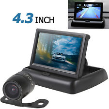 "4.3"" 2-ch Car Rear View Monitor + 420 TVL 18mm Lens Reverse Parking Camera Kit"