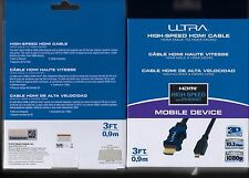 *NEW 3 FT Ultra HDMI Mobile Device High-Speed Cable Ethernet 3D Compatible 10.2