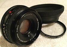 MINOLTA MD ROKKOR 45mm 1:2 PANCAKE LENS MD BAYONET MOUNT has HAZE / FUNGUS