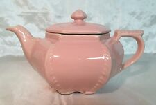 Beautiful Antique Hall China Plume Pink 6 Cup Victorian Teapot 1940's USA