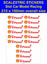 Slot car Scalextric stickers Model Race shell v-power Logo 3 Lego Ferrari decal