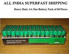 Heavy Duty Dry Battery Pack of 60 Pieces Sealed Pack Size AA Battery