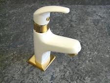 Kaltwasserarmatur Kirchhoff Weiss/Gold, Standventil, Waschtischarmatur, VICO