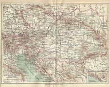 1878 ÖSTERREICH-UNGARN Original Alte Landkarte Karte Old Print Lithographie