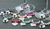 Wine Glass Charms Wedding Table Decorations Favours - Baby Blue - DIY
