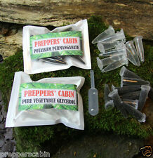 10 X POTASSIUM PERMANGANATE + 10 X GLYCEROL FIRE STARTING BUSHCRAFT SURVIVAL