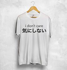 I Don't Care T Shirt Top Japanese Chinese Korean Anime Sarcasm Festival Tumblr