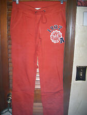 "Lundi by Be Cool~NWT's sz S Rust orange sweatpants ""university of love"""