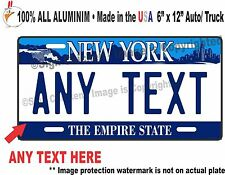 New York Falls Custom Personalized License Plate Made in USA.