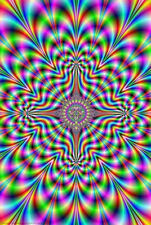 FRACTAL VISUAL ILLUSION (LAMINATED) POSTER (61x91cm) PSYCHEDELIC LSD ART NEW