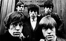 EARLY ROLLING STONES B&W A3 PHOTO REPRINT POSTER  C1965