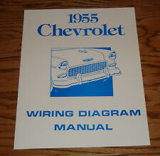 1955 Chevrolet Passenger Car Wiring Diagram Manual 55 Chevy