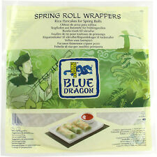 Blue Dragon Spring Roll Wrappers (12) 134g Suitable for Vegetarians and Vegans