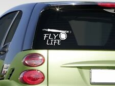"Fly life fishing  6"" sticker *E860* decal fly rod reel fishing line trout"