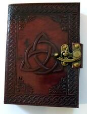 Triquetra Pattern Leather Bound Book of Shadows, Journal!