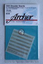 Archer 1/35 DAK Afrika Korps Heer Shoulder Boards Reconnaissance Troops FG35054D