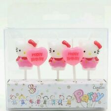 5pcs Hello Kitty Cake candles Kids Birthday Party Supplies.