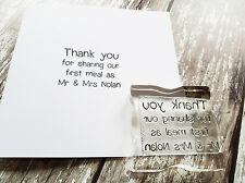 Personalised Rubber Stamps Party Wedding Name Tags Thank you first dinner
