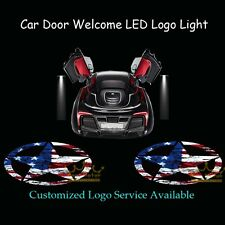 2x Five-Pointed Star American Flag Logo Car Door Projector Shadow CREE LED Light