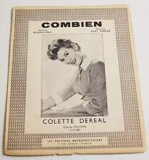 Partition vintage sheet music COLETTE DEREAL : Combien * 60's
