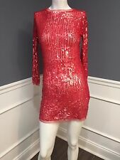 ARDEN B. gorgeous sequin red dress tunic size SM party disco bling SISLOU U16
