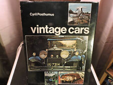 Vintage Cars a vintage Photo and reference book by Cyril Posthumus