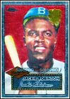 TOPPS CHROME 2002 JACKIE ROBINSON MLB BROOKLYN DODGERS RARE 1952 REPRINT #312