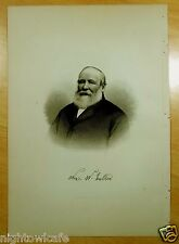 WILLIAM W.NUTTER Newington, NH Antique Print 1882 Steel Engraving NEW HAMPSHIRE
