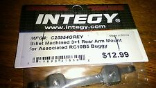 Integy C25954GREY Billet Machined 3+1 Rear Arm Mount for Associated RC10B5 Buggy