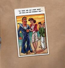 Comic Card by Irwin Sailor and Girlfriend posted 1949 xc1