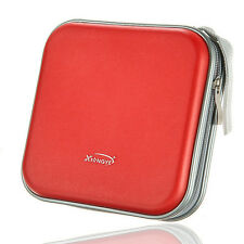 40 Disc Double-side CD DVD Storage Case Organizer Holder Hard Wallet Album Red