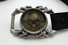 Men Belt Buckle Silver Metal Eagle Claw Skeleton Skull Strong Pirate Heavy Biker