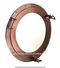 """17""""Aluminum Porthole Copper Finish~Port Window Ship Porthole With Round  Mirror"""
