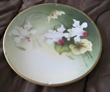 "Reinhold Schlegelmilch R.S. Tillowitz Germany Artist Signed 9"" Orchid Plate"