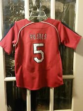 Albert Pujols St. Louis Cardinals SEWN Jersey #5 Youth S LA Angels of Anaheim