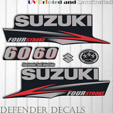 Suzuki 60 hp Four Stroke outboard engine decal sticker set kit reproduction 60HP