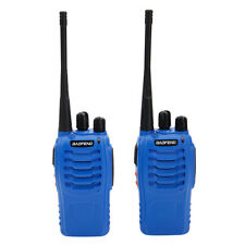 Lot 2 Baofeng BF-888S UHF 400-470 MHz CTCSS Two-way Ham Radio Blue Walkie Talkie