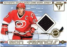 02 Private Stock Titanium Ron Francis Jeff O'Neill Double Sided Game-Worn Jersey