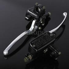 "Pair 7/8"" 14mm Motorcycle Handlebar Hydraulic Brake Clutch Lever Master Cylinder"