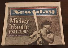 New York Newsday Aug 14,1995 Mickey Mantle 1931-1995 Full Paper