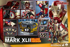 HOT TOYS MARVEL IRON MAN 3 MARK XLII 42 DELUXE QUARTER SCALE 1:4 FIGURE ~Sealed~