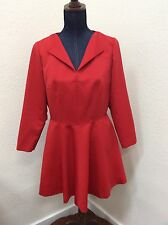 Handmade Vintage Red Dress Sz M Long Sleeve Party Cocktail Style