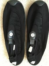 Cudas Men's Shoes Flat Water SZ 10 Mesh Stretch Neoprene Material Black