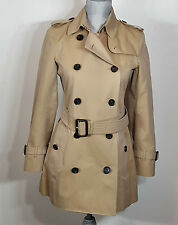 Burberry The Kensington Short Heritage Trench Coat, Size US 4, UK 6