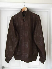 Sean John Bomber Jacket in Brown Size Large with Full Zip & Pockets