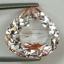 24.85ct  SHIMMERING  RARE  UNTREATED COPPER NATURAL  RUTILE TOPAZ   # 924