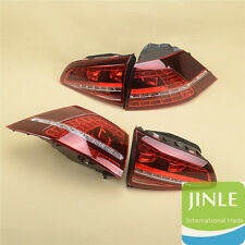 OEM Dark Red LED Taillights Tail Lamps Rear Light For VW Golf GTI R MK7 MK VII